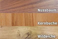 Massivholzbett Holzarten